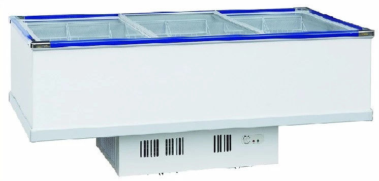 Electrical Commercial Display Refrigerator , Glass Doors Chest Freezer 1035L Capacity,Saving Energy Display Freezer